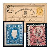 322. Online Auction sale of the unsold lots - Hungarian philately and postal history