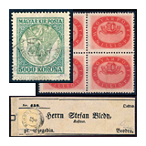 31. Major auction sale of the unsold lots - Hungarian philately and postal history
