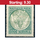 34. Major auction - Hungarian philately and postal history - Live