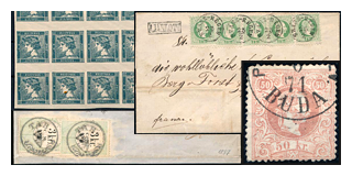 113. Fixed price offer - Austria used in Hungary and the first Hungarian issues with 20% discount