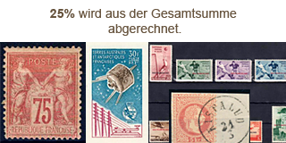 69. Gelaufene Fixpreisangebot - Winter Sale, 25 % Rabatt auf Briefmarken!