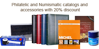 89. Closed Fixed price sale - Philatelic and Numismatic catalogs and accessories with 20% discount