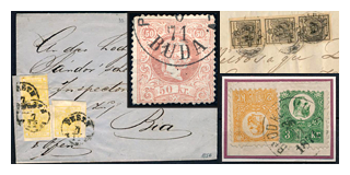 93. Closed Fixed price sale - Austria used in Hungary and the first Hungarian issues