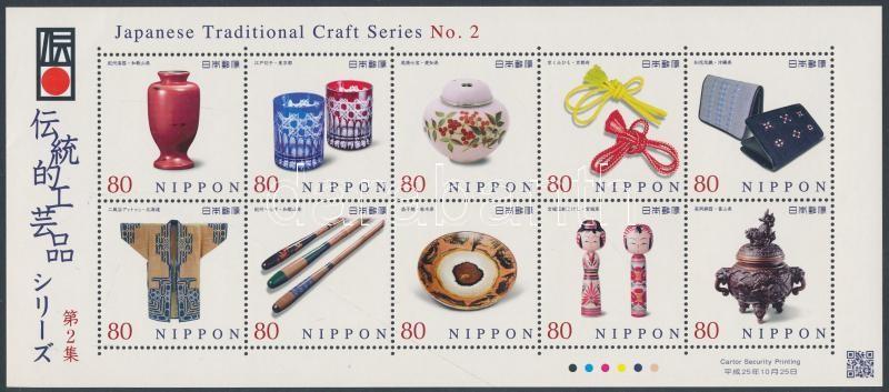 Craftsmanship II. mini sheet, Kézművesség II. kisív