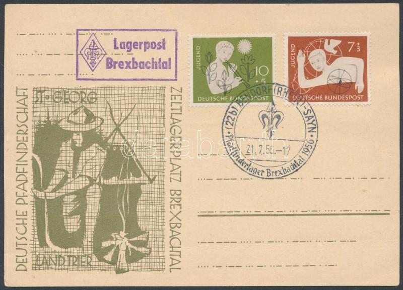 Unused Scout cover with Scout Camo occasional cancellation, Címzetlen cserkészlap cserkésztábori alkalmi bélyegzéssel