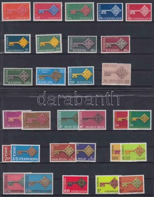 Europa CEPT 27 stamps, Europa CEPT 27 db bélyeg 2 db stecklapon