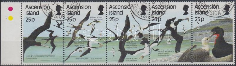 Water Birds II set margin stripe of 5, Vízimadarak II sor ívszéli 5-ös csíkban