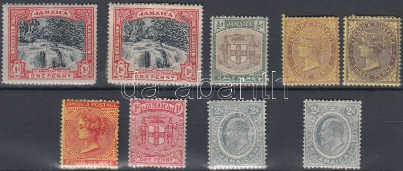1900-1911 9 definitive stamps, 1900-1911 9 db Forgalmi bélyeg
