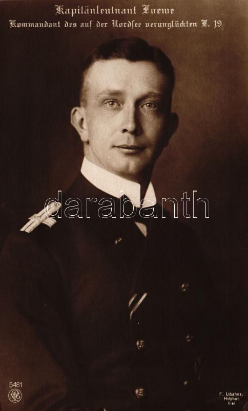 Kapitänleutnant Odo Loewe, Kommandant des auf der Nordsee verunglückten L 19 / German air force captain, Odo Loewe korvettkapitány, az L 19 zeppelin parancsnoka