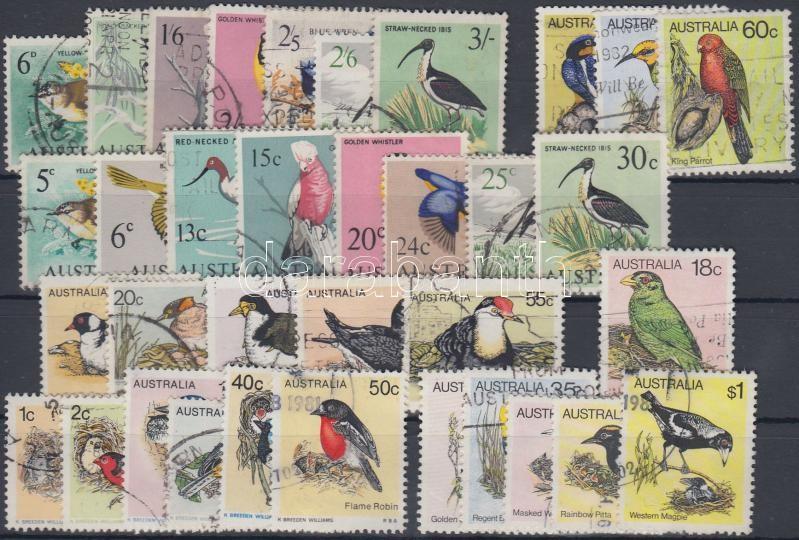 1964-1980 Birds 7 issues with sets, 1964-1980 Madarak 7 db kiadás, közte teljes sorok