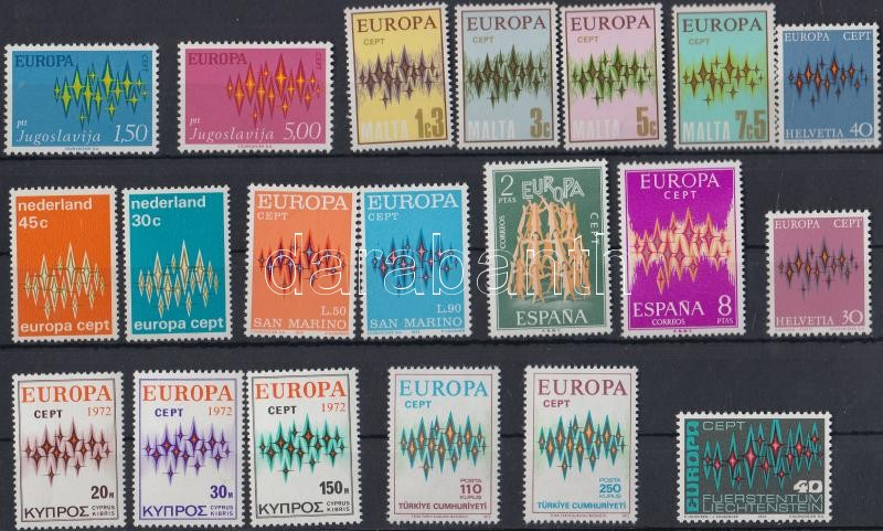 Europa CEPT 40 stamps, Europa CEPT 40 db bélyeg 2 db stecklapon