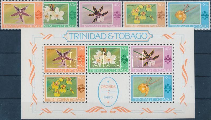 Definitive: Orchids set + block, Forgalmi: orchideák sor + blokk