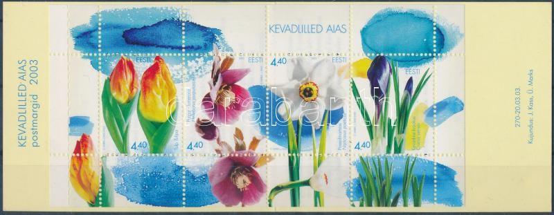 Tavaszi virágok bélyegfüzet, Spring flowers stamp-booklet