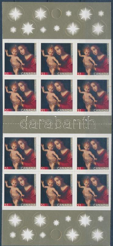 Christmas self-adhesive stamp-booklet, Karácsony öntapadós bélyegfüzet