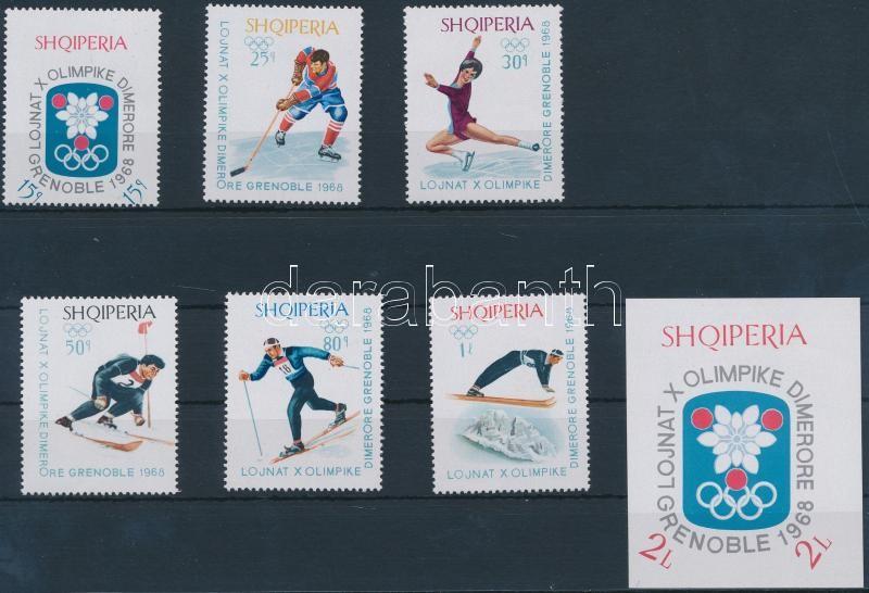 Winter Olympics set + block, Téli olimpia sor + blokk