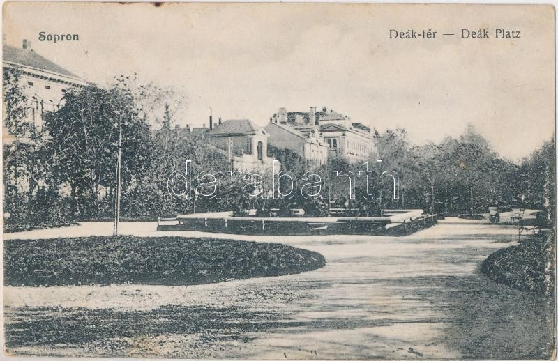 Sopron, Deák tér, Blum Náthán és fia kiadása