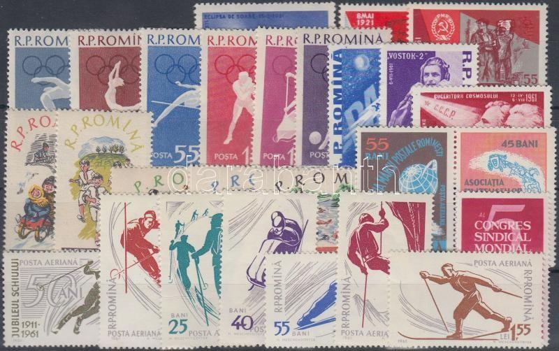 1960-1961 27 stamps, 1960-1961 27 db bélyeg közte teljes sorok és pár