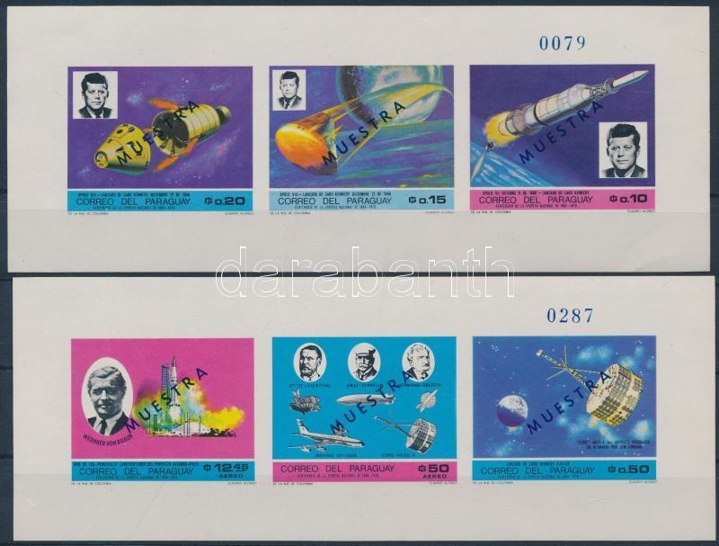 Space Research, Kennedy 2 blocks SPECIMEN, Űrkutatás; Kennedy 2 blokk MINTA