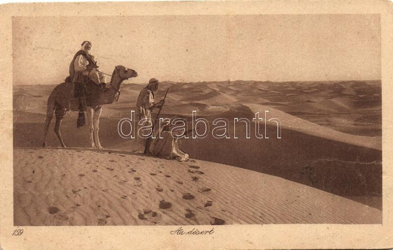 Libyan folklore, camels in the desert, Líbiai folklór, teve