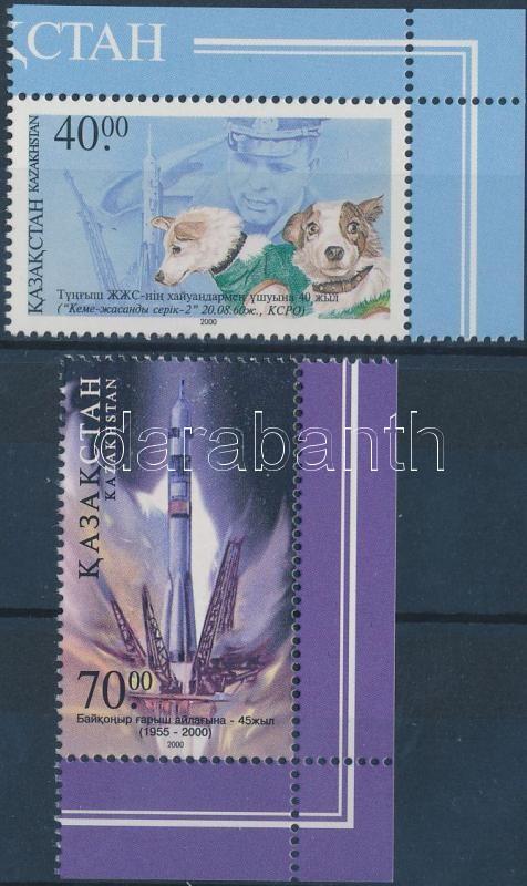 Űrkutatás; Űrhajósok napja (2000) sor, Space research; cosmonauts day (2000) set