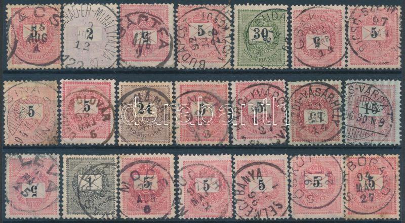 21 diff. stamps (Gudlin 350p), 21 klf krajcáros bélyeg (Gudlin 350p)