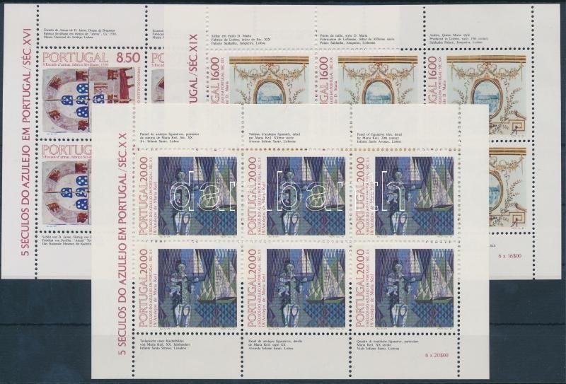 500th anniversary of Azulejos 5 minisheets, 500 éves térkövezés (Azulejos) 5 db kisív