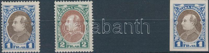 Definitive color proof perf. + imperf. stamp, Forgalmi színpróba fogazott + vágott bélyeg
