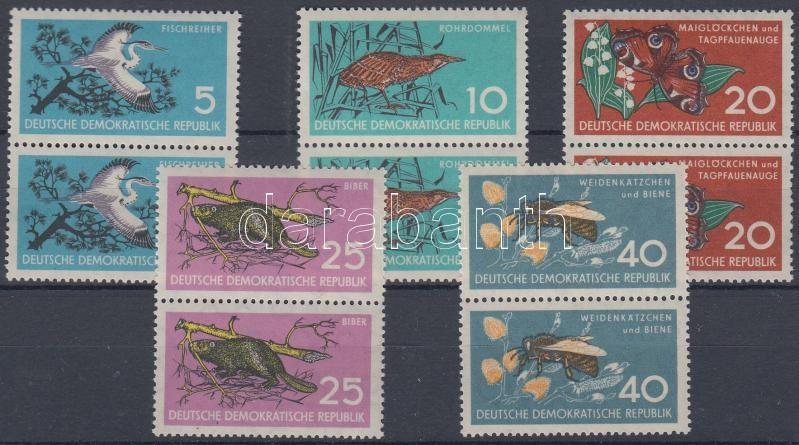 Environmental protection 5 pairs (set), Természetvédelem 5 pár (sor)