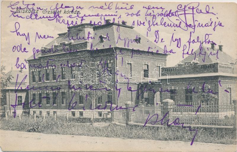 Miskolc, Erzsébet kórház, kiadja Ferenczi B.