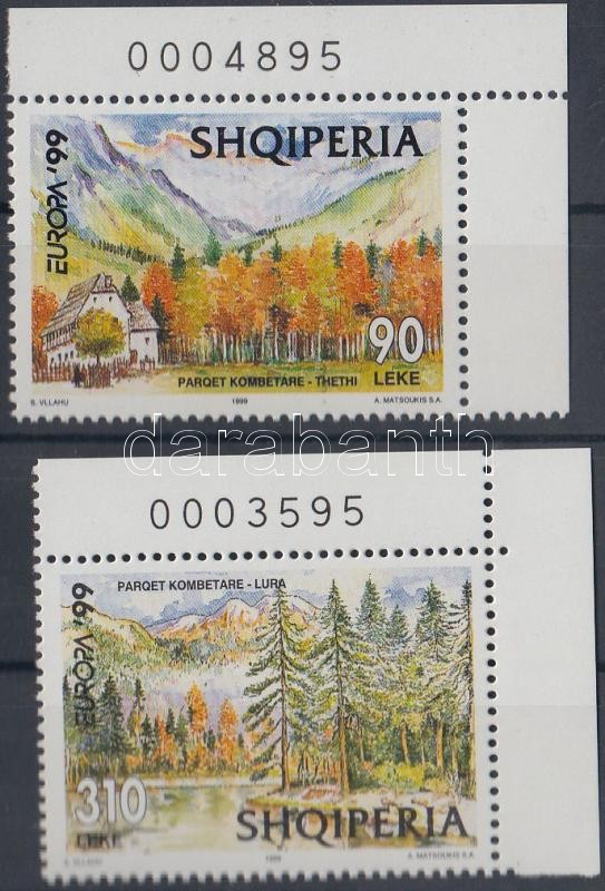 Europa CEPT National Parks corner set, Europa CEPT nemzeti parkok ívsarki sor