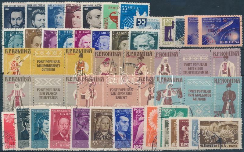 1958-1959 47 stamps, 1958-1959 47 db bélyeg, közte teljes sorok és szelvényes bélyegek