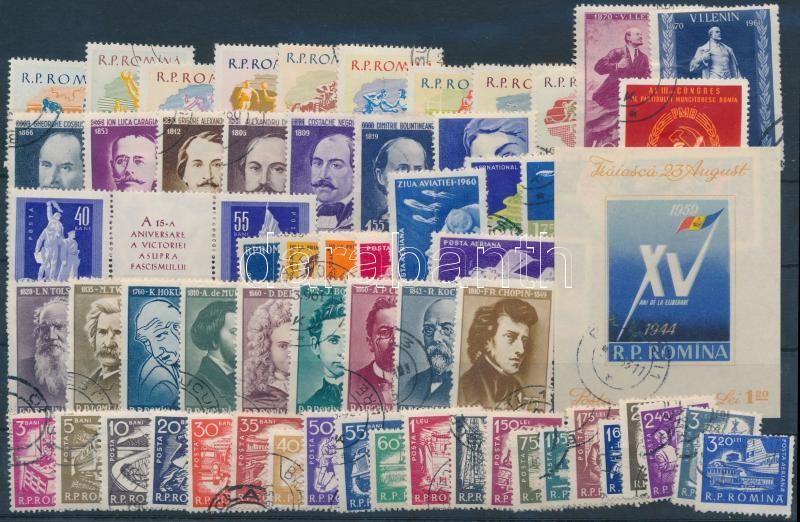 1959-1960 106 stamps + 2 blocks, 1959-1960 106 db bélyeg, közte teljes sorok és szelvényes bélyegek és 2 db blokk, 2 db stecklapon