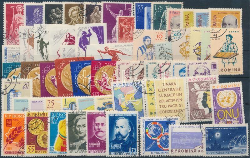 1961-1962 57 stamps + 3 blocks, 1961-1962 57 db bélyeg, közte teljes sorok, vágott és szelvényes bélyegek + 3 db blokk, 2 db stecklapon