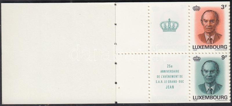 25th anniversary of Grand Duke Jean stamp-booklet, Jean nagyherceg trónra lépésének 25. évfordulója bélyegfüzet