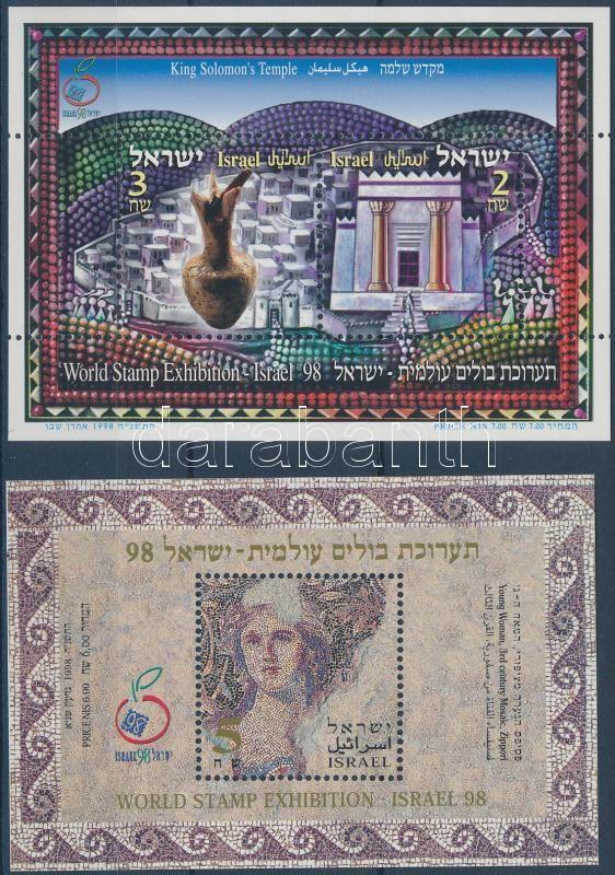 IZRAEL International stamp exhibition 2 blocks, IZRAEL nemzetközi bélyegkiállítás 2 blokk