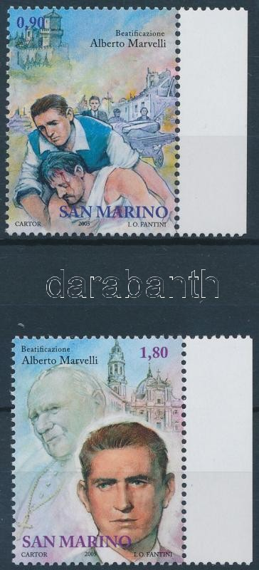 Alberto Marvell beatification margin set, Alberto Marvelli boldoggá avatása ívszéli sor