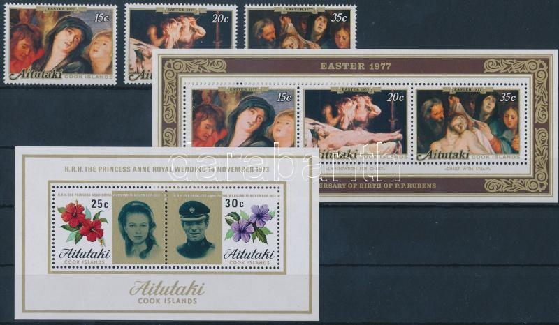 1973-1977 14 stamps + 2 blocks, 1973-1977 14 db bélyeg + 2 blokk