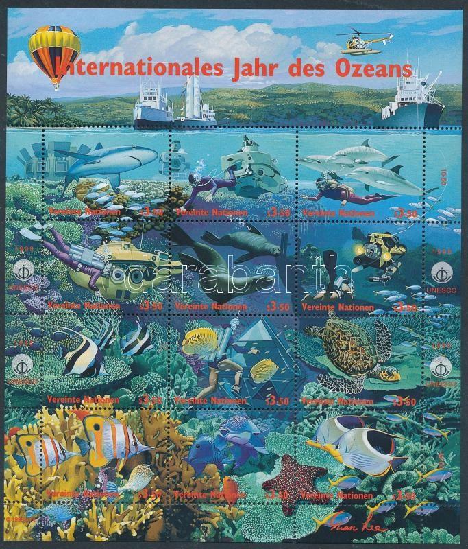 International Ocean Year full sheet, Nemzetközi óceán év teljes ív