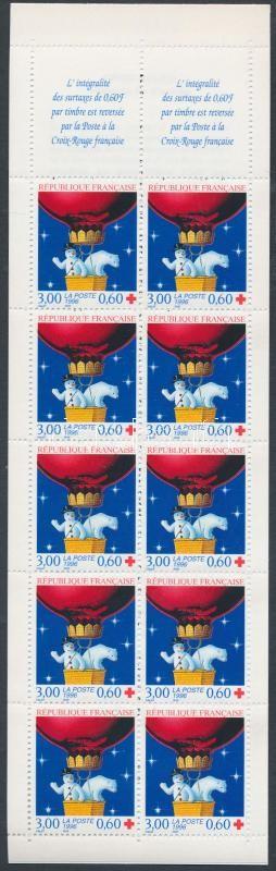 Red Cross: New Year stam- booklet, Vöröskereszt: Újév bélyegfüzet