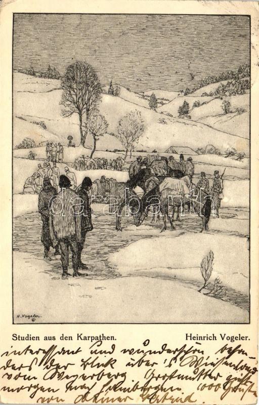 Studien aus den Karpathen / in the Carpathian mountains s: Heinrich Vogeler, A Kárpátok hegyei között s: Heinrich Vogeler