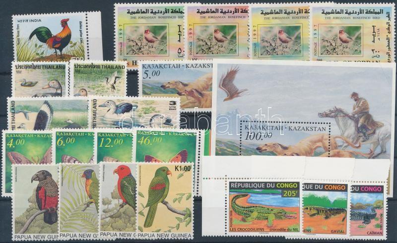 Animals 21 diff. stamps + 1 block, Állat motívum 21 klf bélyeg + 1 blokk