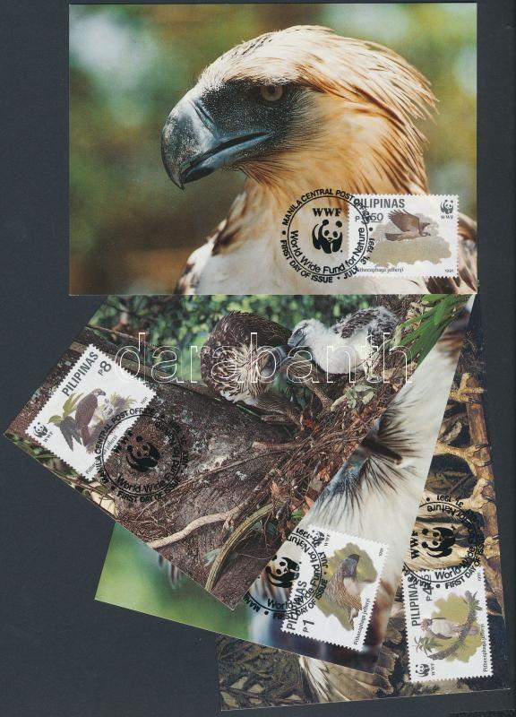 WWF Bird set 4 CM, WWF madarak sor 4 CM