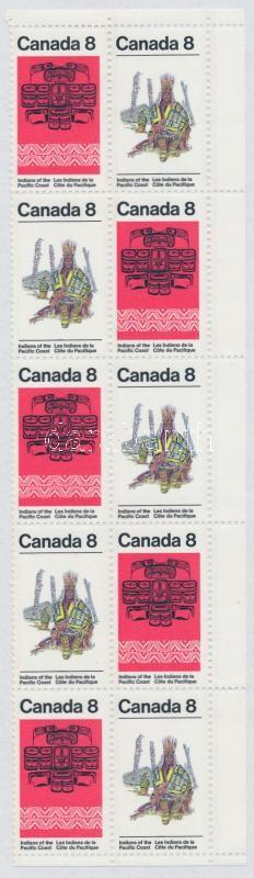Indian art 5 pairs in block of 10, Indián művészet 5 párt tartalmazó 10-es tömb