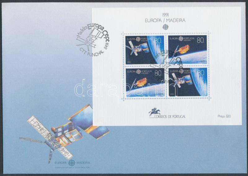 Europa CEPT, Space Exploration block on FDC, Europa CEPT, Űrkutatás blokk FDC-n