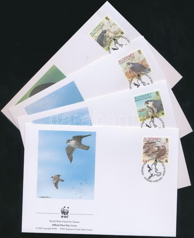 WWF Birds set on 4 FDC, WWF madarak sor WWF értékei 4 FDC