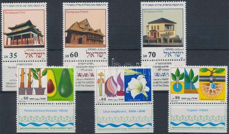 Zsinagógák + mezőgazdaság tabos sor, Synagogues + Agriculture set with tab