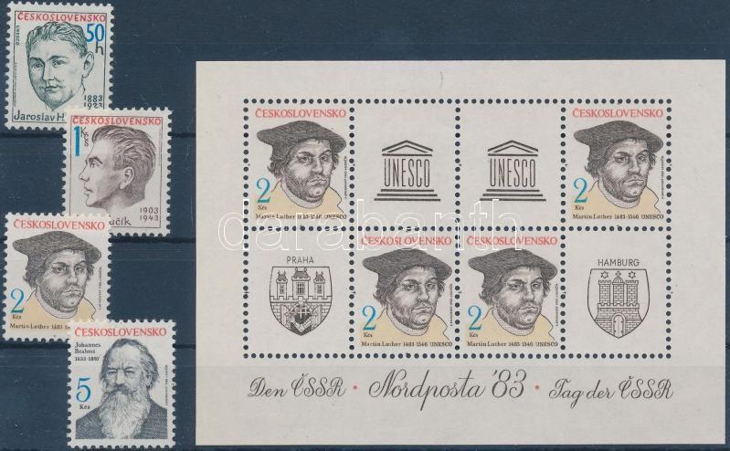 NORDPOSTA stamp exhibition set + block, NORDPOSTA bélyegkiállítás sor + blokk