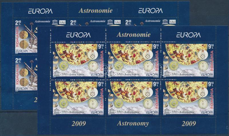 Europa CEPT Astronomy mini sheet set, Europa CEPT csillagászat kisívsor