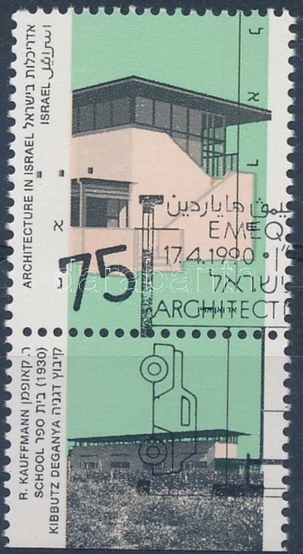 Architecture stamp with tab, Építészet tabos bélyeg