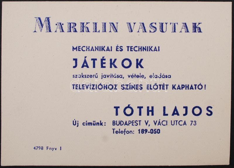 bc187dd449 cca 1940 Märklin vasútmodell reklám kártya | Darabanth Auctions Co ...